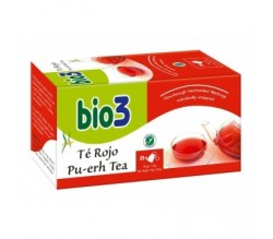 bio 3 te rojo ecologico 25 bolsitas