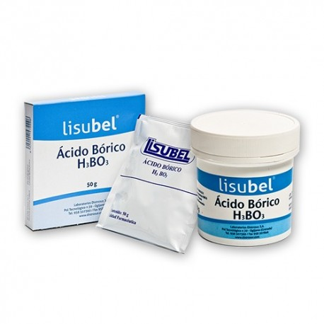 ácido borico lisubel bolsa 50 gr.