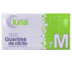 Luna Guantes Nitrilo Azul Sin Polvo 100u Talla M