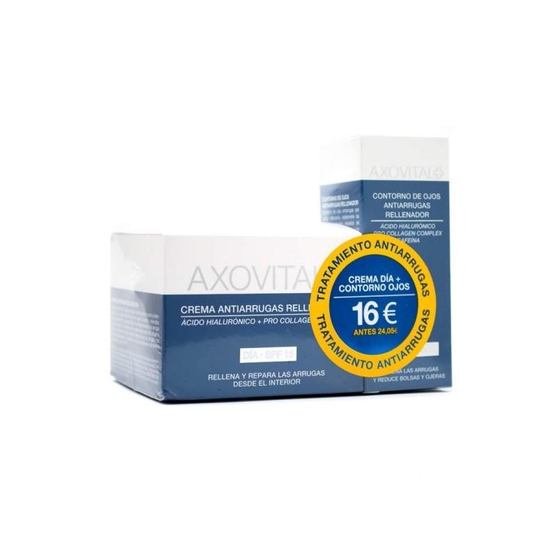 6a0e57deb axovital antiarrugas dia rellenador 50 ml + contorno de ojos 15 ml ...