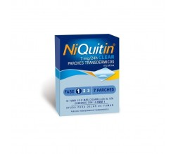 NIQUITIN CLEAR (7 MG/24 H 7 PARCHES TRANSDERMICOS 36 MG )