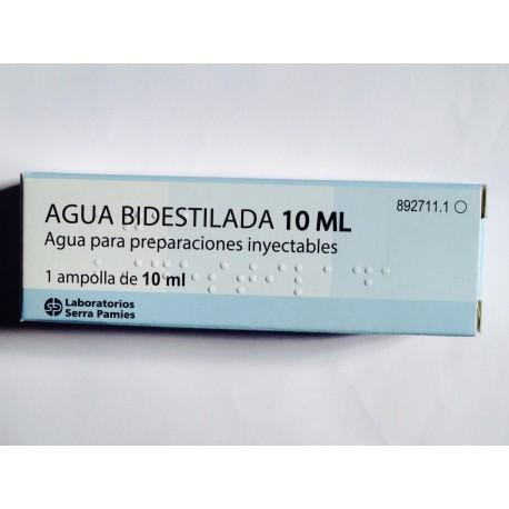 AGUA BIDESTILADA SERRA (1 AMPOLLA 10 ML )