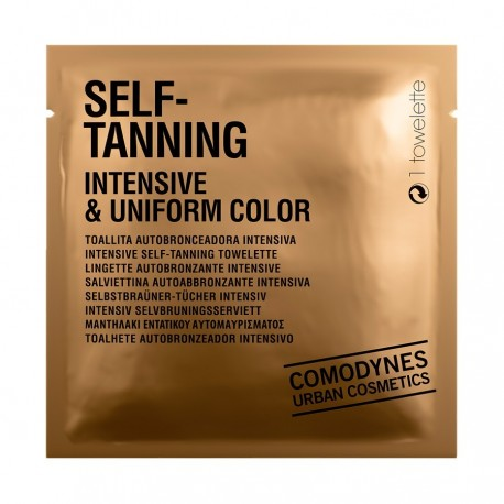 comodynes self-tanning intensive & uniform color pack de 8 toallitas