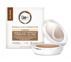 BE+ MAQUILLAJE COMPACTO CORRECTOR OIL-FREE SPF30 PIEL OSCURA 10G