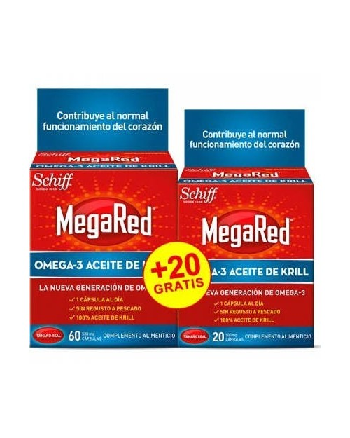 mega red omega 3 krill 500 mg 60+20 capsulas
